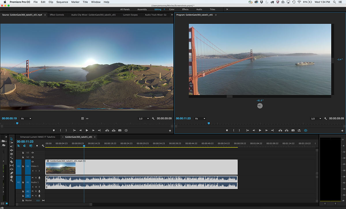 How To Edit 360 Video In Adobe Premiere Pro Cc